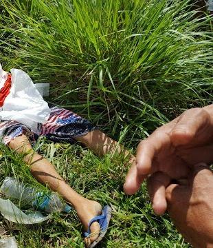 A vítima foi atacada neste local (foto: Verdinho)
