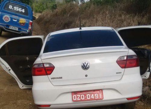O carro do taxista foi encontrado nesse ramal que dá acesso à fazenda Progresso