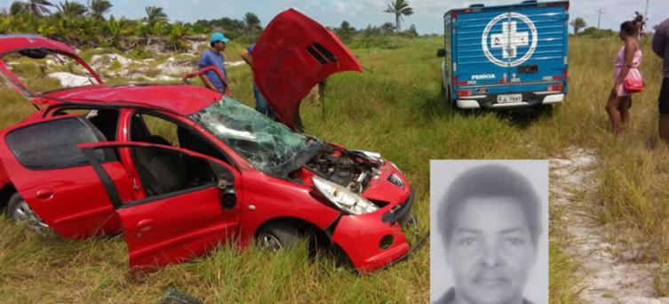 Maria Aparecida morreu na hora (foto: Blog Teixeira News)