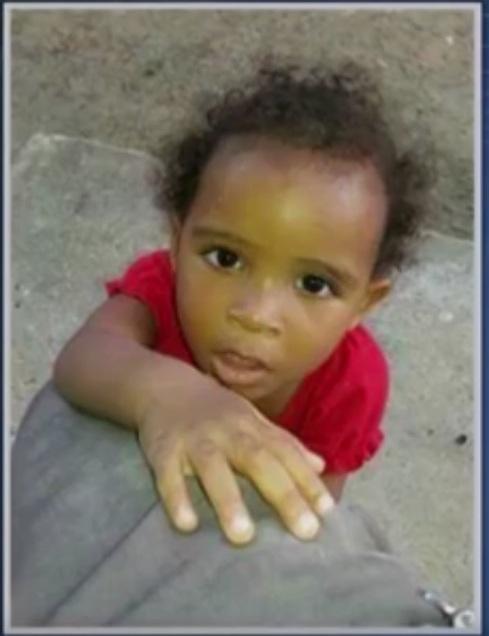 A pequena Crislane sumiu na porta da casa dos avós maternos (foto: Reprodução/TV Santa Cruz)